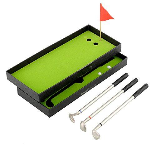 LISRUI 3 Stücke Mini Golf Clubs Kugelschreiber Flagge Putter Eisen Set Geschenk Metall Hohe qualität