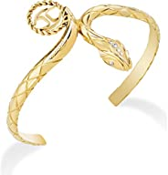 Just Cavalli Stainless Steel Yellow Gold PVD Crystal-SCAEL03