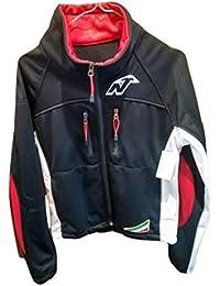 Nordica Jacket Racing Team Hombre Negro con Banda Blanca Lateral de Wind Tex S