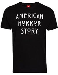 T-shirt della serie TV American Horror Story logo cotone nero - M