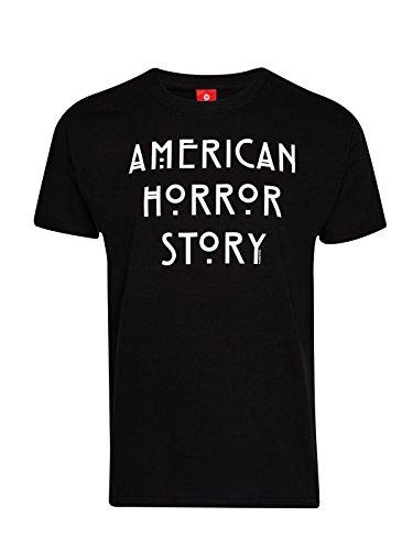 American Horror Story maglietta con Logo della serie TV in cotone, colore: nero, Uomo, Black, S