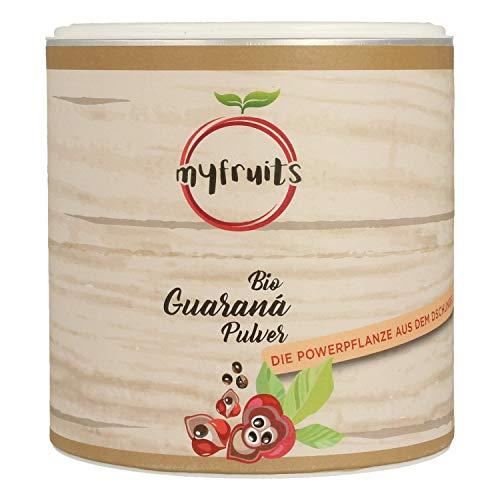 myfruits® Bio Guarana Pulver - ohne Zusätze, zu 100{2e4f08b12c30e3a613b6501323ef56547a357cb97e968e0bb1b73ae0fc133512} aus Guarana-Samen - natürliche Kaffeealternative. Das Superfood aus dem Amazonas (250g)