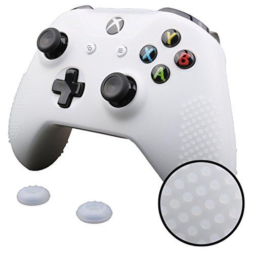 Pandaren® TACHONADO cubierta de silicona Fundas protectores antideslizante para Xbox One S...