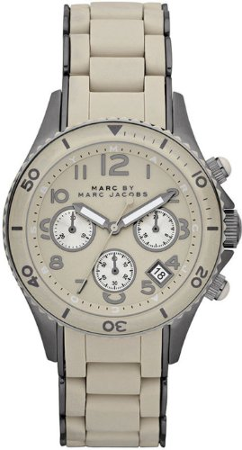Marc Jacobs Marc by Ro Shell Silicone MBM2591 40 Steel Bracelet & Case Men's Quartz Watch