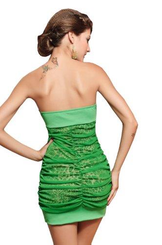 E-Girl New nouveau à la mode Diamante Inlay Elastic Tube Robe de soirée,robe de cocktail, Vert Vert