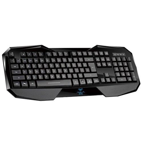 TBS 3302Aula befire LED Beleuchtet Ergonomische USB Multimedia Gaming Keyboard, LED Retro Reißverschluss/USB Port/Modus Spiel und Büro Gaming Tastatur, Gaming-Tastatur