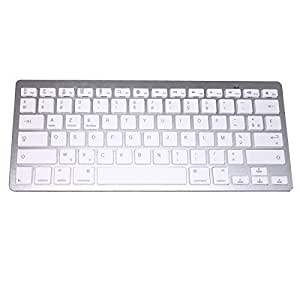 SKYNET - Clavier sans fil - Bluetooth AZERTY pour IOS - Apple - Windows - Android - Tablette et Ordinateur -