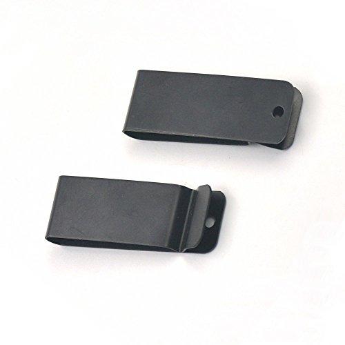 hanhanlop 525Pcs Gürtel Holster Clip Verschluss Feder Haken Schnalle Schlüsselanhänger Hardware 6,2cm (62mm) x0.85(21.7mm) Schwarz Schwarz (Feder-clip-holster)
