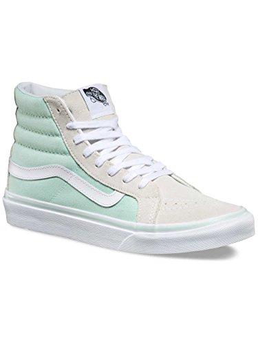 Vans Ua Sk8-Hi Slim, Sneakers Hautes Femme Vert (Bay/true White)