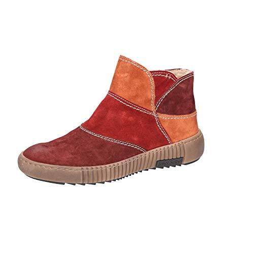 Josef Seibel 84604-Pl944-462 Maren Damen Boots aus Veloursleder warm gefüttert, Groesse 39, rot/orange