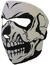 Accessoryo - Crâne Néoprène Masque De Visage En Noir Et Blanc