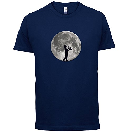 Saxophone Player Moon - Herren T-Shirt - 13 Farben Navy