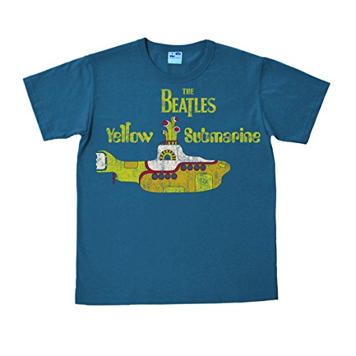 The Beatles - Vintage Yellow Submarine Easyfit T-Shirt - petrolblau - Lizenziertes Originaldesign - LOGOSHIRT, Größe S (Beatles-vintage-t-shirt Die)