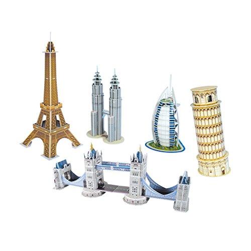 CubicFun Mini Architecture Series Assortment 3D Puzzle