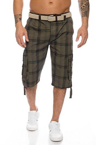 Herren Shorts - mehrere Farben ID489, Größe:M;Farbe:Olive