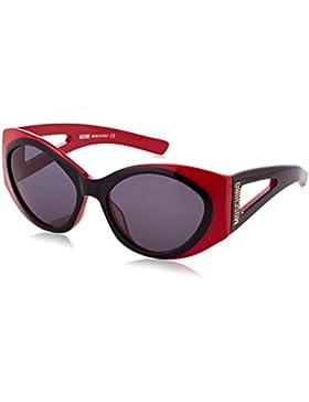 Moschino Round Eye, Gafas de Sol para Mujer, Negro (Nero/Rosso), 57