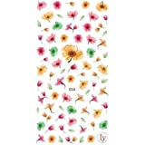 Watercolor Flowers 3D Nail Art Stickers Manicure Marble Nail Design Stickers By DALUCI (1 Sheet) (Design 2)