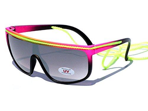Tedd Haze New Wave - Aerobic Kult Sonnenbrille schwarz/pink/gelb