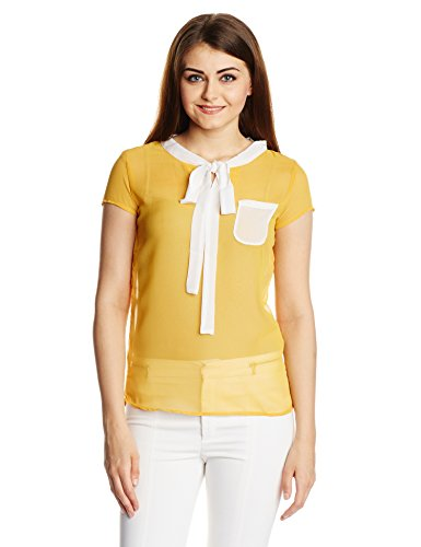Style Quotient By Noi Women's Body Blouse Shirt (SS15 SQ RIKI_Mustard_Large)  available at amazon for Rs.209