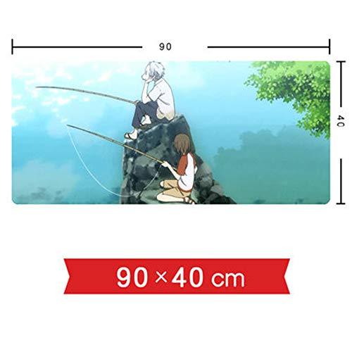 ZFW Mauspads 900X400 Zwei Yuan Anime peripheren verdickung Schloss Computer Schreibtisch pad Tastatur mauspad A-22 90X40X0.3CM -