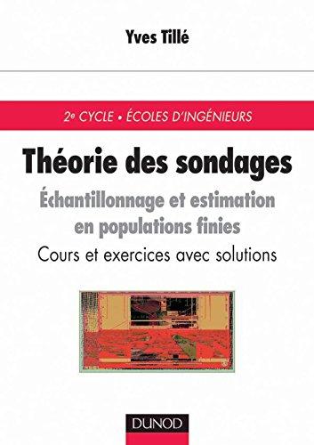 Théorie des sondages : Echantillonnage et estimation en populations finies