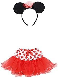 Carnival Toys 6673-Juego Disfraz, Minnie Mouse niña con falda y diadema