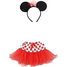 Carnival Toys 6673–Juego Disfraz, Minnie Mouse niña con falda y diadema