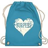 CrossFit & Workout - Burpees Herz - Unisize - Hellblau - WM110 - Turnbeutel & Gym Bag