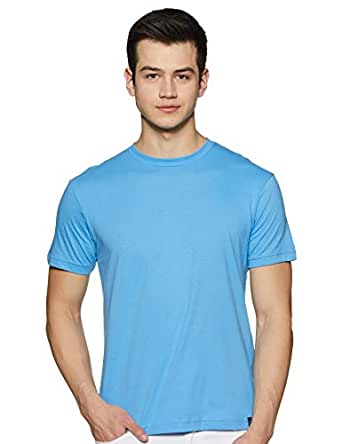 Jockey Men's Cotton T-Shirt (8901326103425_2714_S_Azure Blue)