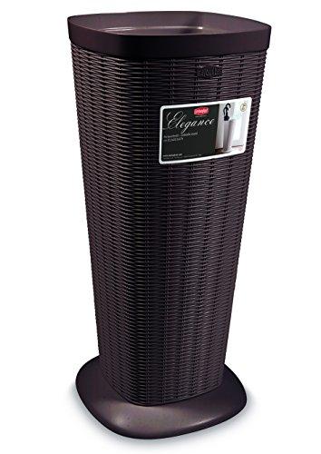 Portaombrelli porta ombrelli contenitore in dura resina di plastica marrone h 57 cm