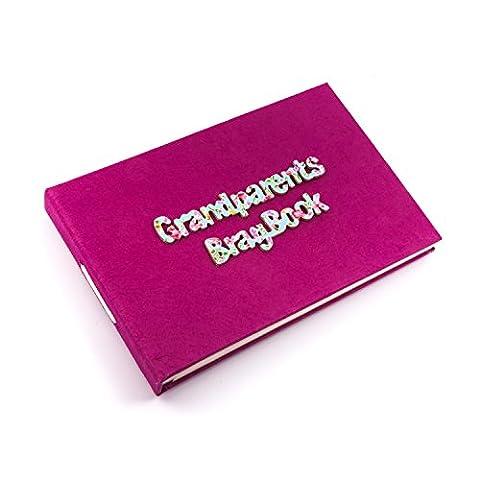 Grandparents Brag Book - Cerise pink, pocket sized Photo Album, Gift