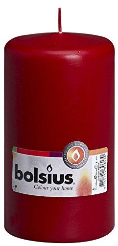 Ivyline Bolsius 103616180144 Bougie Pilier, Cire de Paraffine, vin Rouge