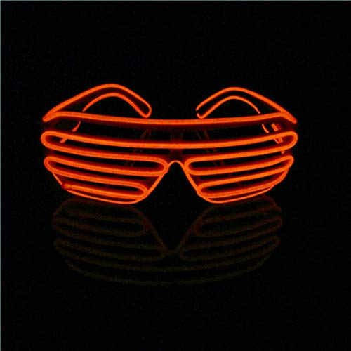 LERWAY EL Wire Leuchtbrille Leuchten LED Shutter Shade Brille Fun Konzert für Halloween,Party,Disco,Nacht Pub,Bar Klub Rave,70er 80er 90er Kostüm (Rot )