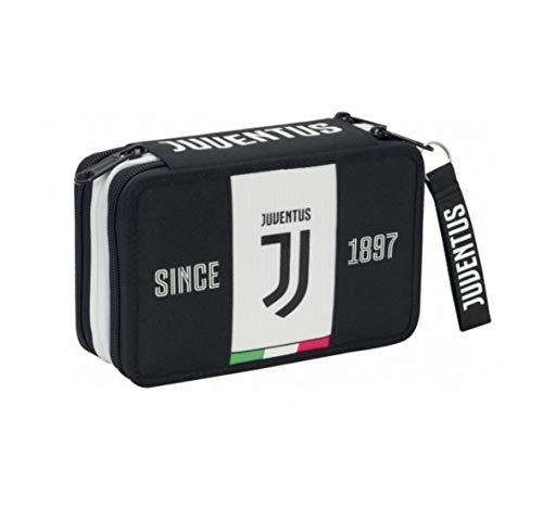 SEVEN SPA F.C. Juventus 2019-20 Federmäppchen mit 3 Reißverschlüssen, offizielles Lizenzprodukt - 3 Spa