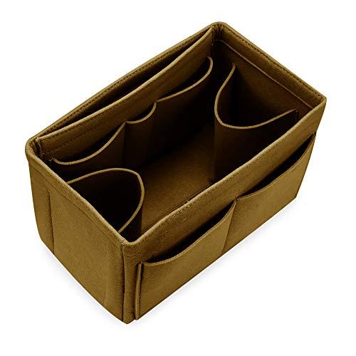 Hokeeper Felt Purse Insert Multi-Pocket Organizer, Handbag Organizer, Bag in Bag, 11 Compartments, 4 Sizes, 6 Colors (Speedy Base Shaper)