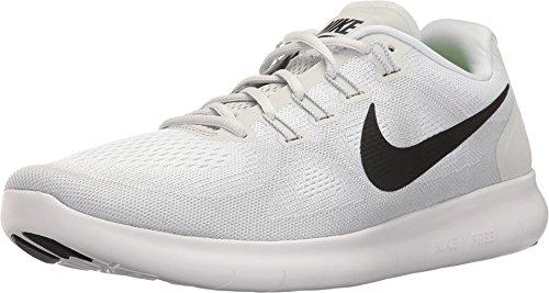Nike NIKE831508 300 - Free Rn Herren, Grau (White/Black/Pure Platinum), 48 EU M