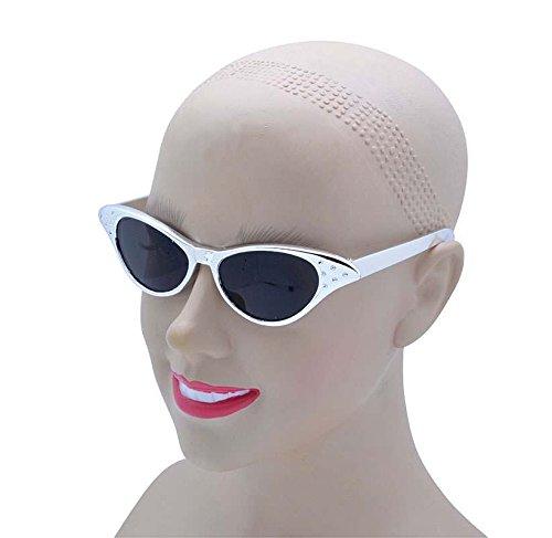 Bristol Novelty BA195 Sonnenbrille im Stil der 50er, Metallisch-Gold, unisex - erwachsene metallic silver Einheitsgröße