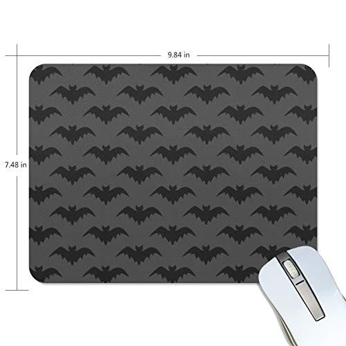 Mauspad mit schwarzem Fledermaus-Hintergrund, Premium-Textur, rutschfeste Gummiunterseite, für Laptop, Computer und PC -