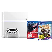 Sony Playstation 4 500 GB Weiss inkl. Little Big Planet 3 + Driveclub [Importación Alemana]