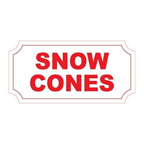 Tomlinsony Blechschild Metal Tin Sign Aluminum Snow Cones Red Retro Vintage Style 8 X 12 Inch - Vintage Snow Cone