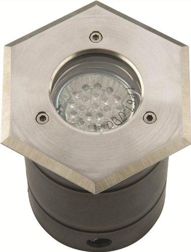 KNIGHTSBRIDGE WHGULED - GU10 LED Stainless Steel Hexagon Walkover Light IP67
