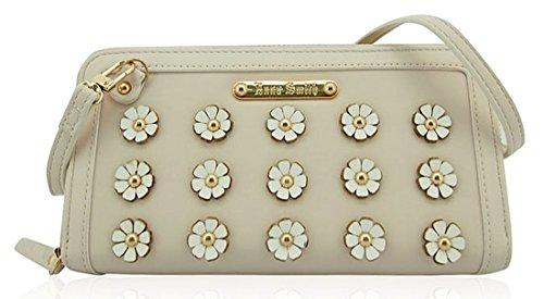 Anna Smith righe 3D di fiori Matinee grossa borsa con scatola regalo Cream