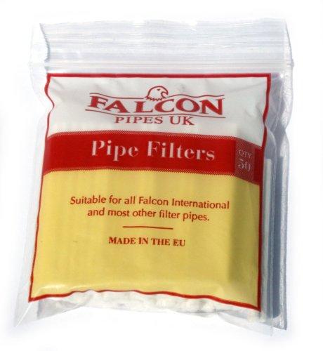 FALCON International Filtri tubi - 1 sacchetto di 50 filtri