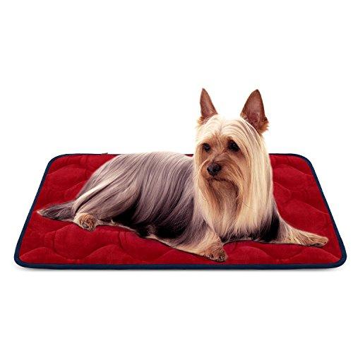 r Kleine Hunde Luxuriöse Hundedecken Waschbar Orthopädisch Liekissen rutschfeste Hundematte Rot S von HeroDog ()