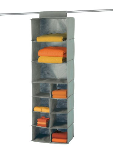 WENKO 4374110100 Wäschesortierer Libertà - 11 Fächer, 100% Polypropylen, 36 x 123 x 29 cm, Grau