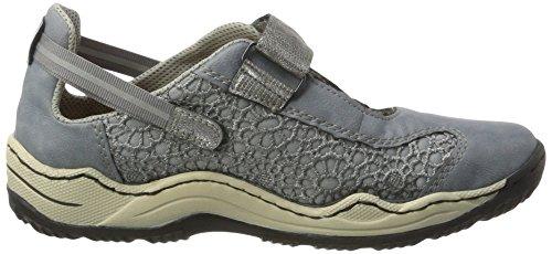 Rieker Damen L0578 Sneakers Blau (adria/jeans/altsilber / 12)