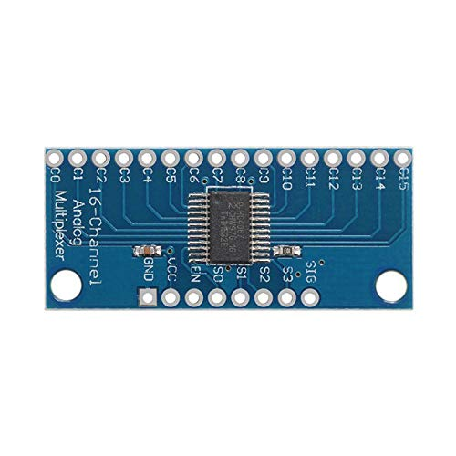 16 Kanal Analog Digital MUX Breakout Board Multiplexer CD74HC4067 Präzises Modul Arduino High-Speed   CMOS - Blau Cmos-analog-multiplexer
