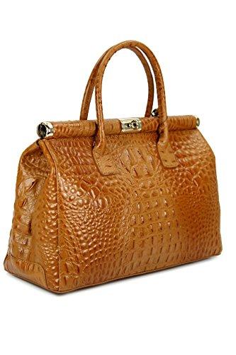 d3fab017c3db6 Belli Bag XXL Leder Henkeltasche Handtasche Damen Ledertasche Umhängetasche  - Farbauswahl - 38x26x18 cm (B