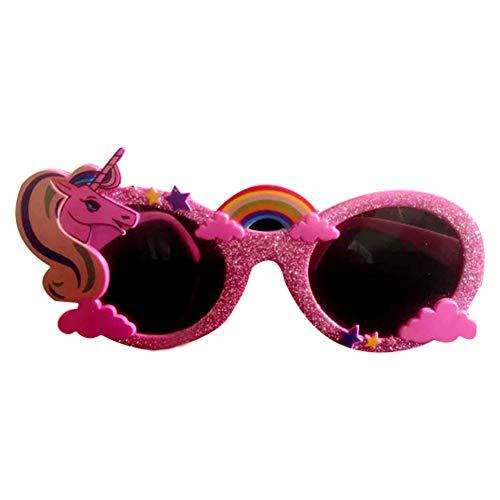 Isuper Einhorn Hawaii-Gläser Hawai Fanci-Marken Deko Tropical Pink Sonnenbrille
