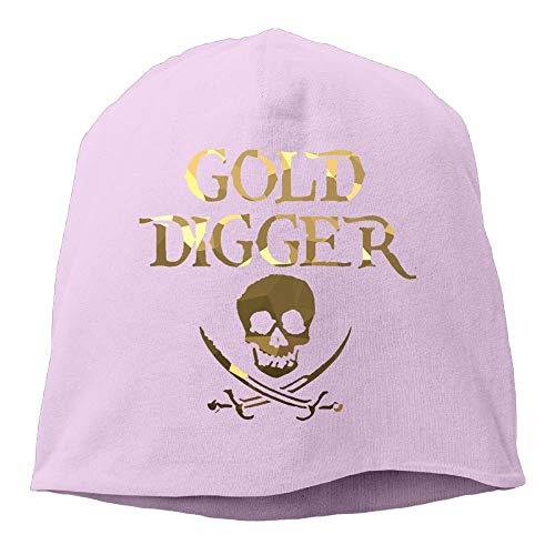Zcfhike Gold Digger Skull Piraten Frauen/Männer Wollmütze Weiche Stretch Beanies Skull Cap Unisex Multicolor68 Damen Gold Digger